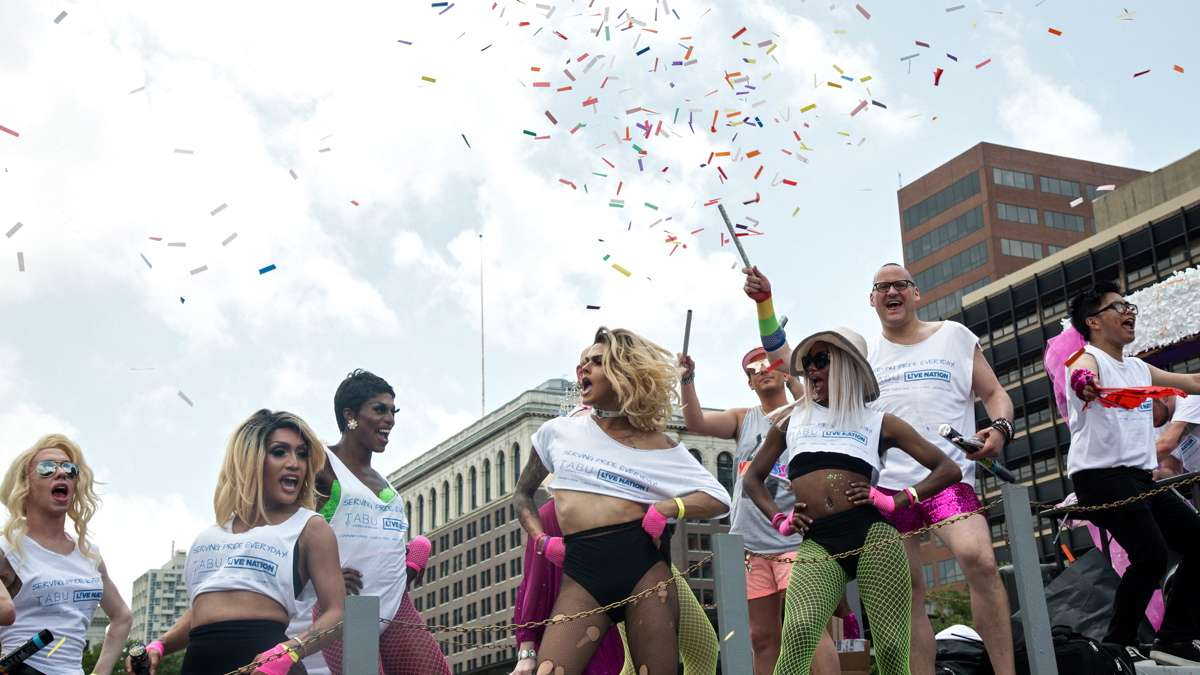Dancers from Tabu perform during the 2017 Philadelphia Pride Parade, Sunday, June 18, 2017.