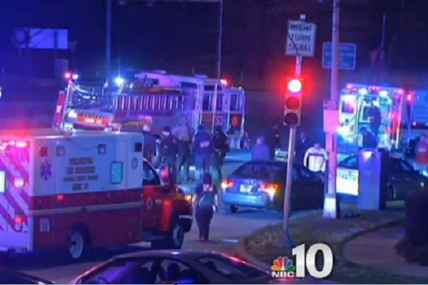 <p><p>Police, fire and EMT personnel responded to the scene of the country's first fatal hit-and-run of 2013. (Courtesy of NBC10)</p></p>