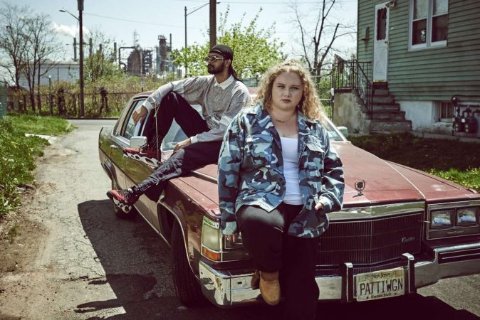 Siddharth Dhananjay and Danielle Macdonald in the film PATTI CAKE$. Photo by Andrew Boyle. © 2017 Twentieth Century Fox Film Corporation All Rights Reserved