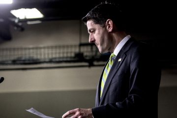 House Speaker Paul Ryan of Wis., arrives to speak to members of the media during a press conference on Capitol Hill in Washington, Friday, March 24, 2017. (AP Photo/Andrew Harnik)
