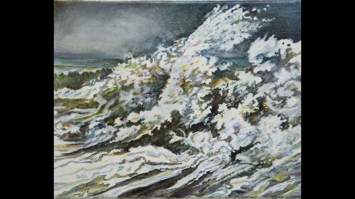 'The Wave' — oil on canvas, by Paulette Bensignor (Paulette Bensignor/for Great Bay Gallery)