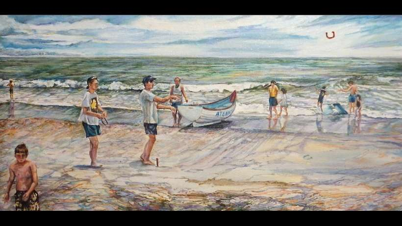 'Game on Beach' by Paulette Bensignor (Paulette Bensignor/for Great Bay Gallery)