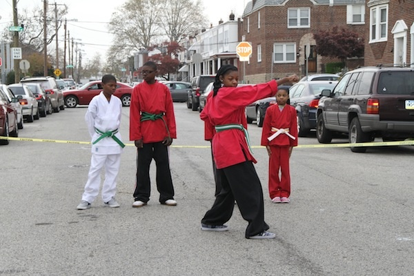 <p><p>The Fighting Angels demonstrate various martial arts poses at Saturday's Fall Festival in West Oak Lane. (Trenae V. McDuffie/for NewsWorks)</p></p>