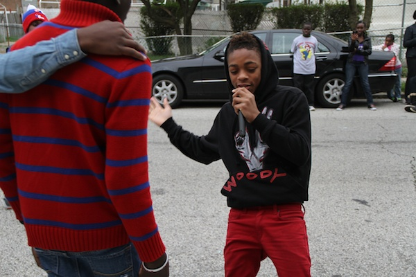 <p><p>The Dollar Boys rap and dance during a performance at the PCAT fall festival. (Trenae V. McDuffie/for NewsWorks)</p></p>