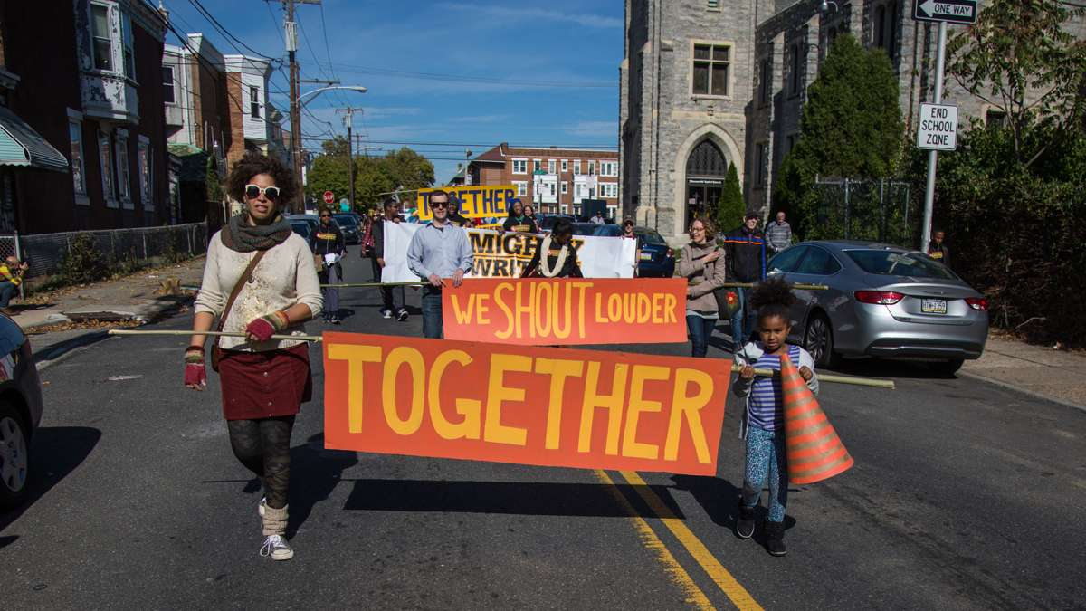 Social justice advocates march in the 17th annual Peoplehood parade Oct. 29, 2016.