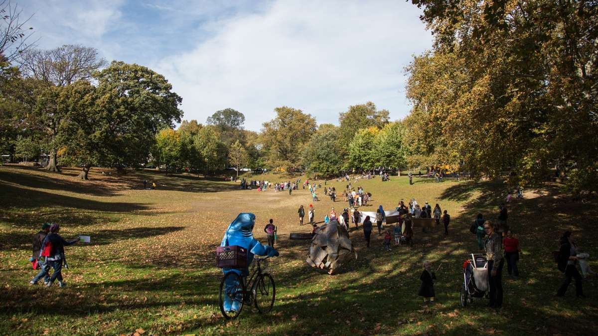 The 17th annual Peoplehood parade ends in Clark Park, Oct. 29, 2016.