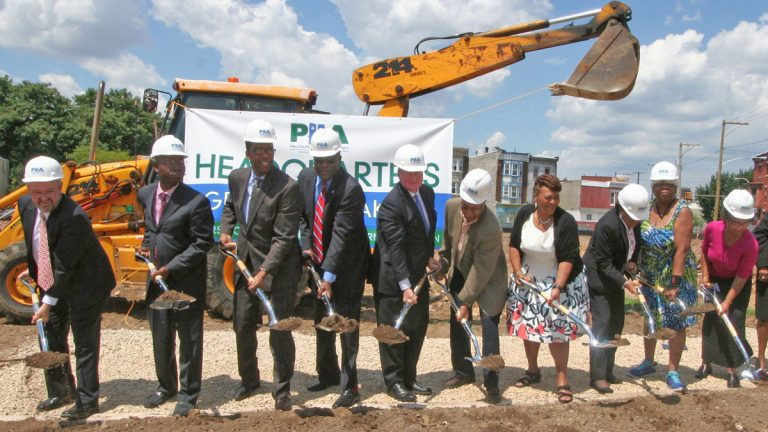 PHA is investing $45 million into its headquarters on Ridge Avenue as a part of the Sharswood/Blumberg Transformation plan. Today was the groundbreaking.  (Photo courtesy of PHA)