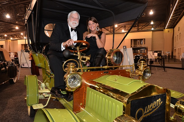 <p><p>Mike Jones, National Director of the Antique Automobile Club of America, and Marty Smith behind the wheel of a 1905 Queen Model E Light Touring (Photo courtesy of Marc Barag, MB Commercial Photography)</p></p>