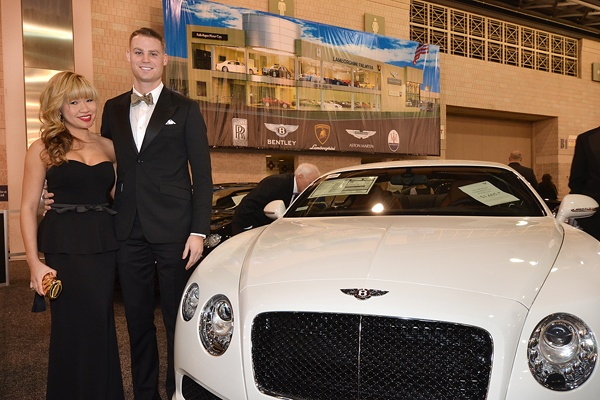 <p><p>Yu Sun and Jake Willcox standing beside a 2013 Bentley Continental GT V8, priced at $193,000 (Photo courtesy of Marc Barag, MB Commercial Photography)</p></p>