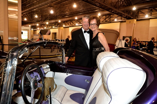 <p><p>Andy Tirpok and Mary Ann Rodenberger standing beside a 1955 Flojole Forerunner (Photo courtesy of Marc Barag, MB Commercial Photography)</p></p>
