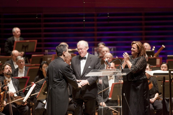 <p>&lt;p&gt;Philadelphia Orchestra Chairman Richard Worley (center) and Orchestra CEO Allison Vulgamore applaud Concertmaster David Kim, as he receives this year's Philadelphia Orchestra Award. (Photo courtesy of Jessica Griffin)&lt;/p&gt;</p>
