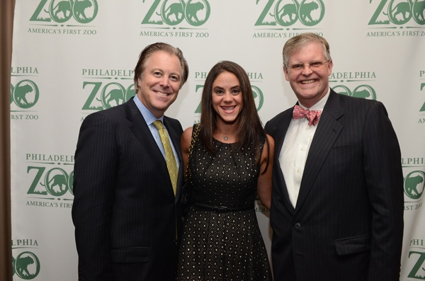 <p><p>CBS Broadcasting Vice President, Marc Rayfield (left), Nicole Rayfield, and Zoo board member, H. Augustus Carey. (Photo courtesy of HughE Dillon)</p></p>