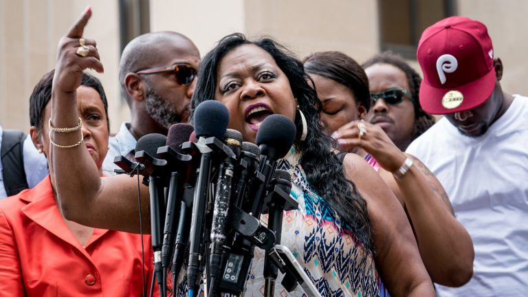 Valerie Castile, speaking outside the Ramsey County Courthouse in St Paul, Minn., after a jury acquitted Officer Jeronimo Yanez in the killing of her son, Philando Castile. (Lorie Shaull/ Flickr Creative Commons)