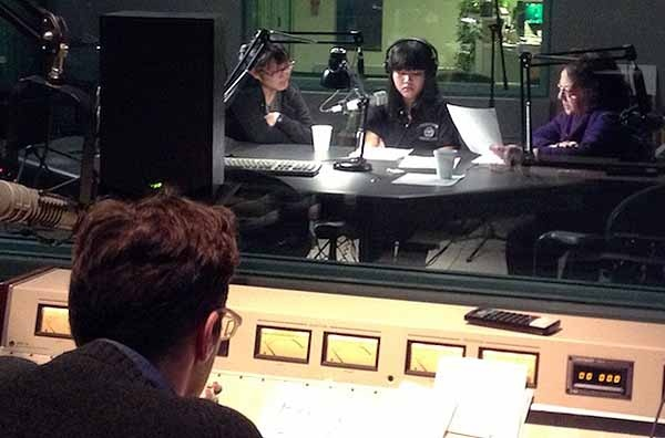 <p>&lt;p&gt;Dinh To rehearses her narration with Yowei Shaw and Elizabeth Perez Luna. Engineer Charlie Kaier was at the controls.&#xA0; (Jeanette Woods/ NewsWorks)&lt;/p&gt;</p>