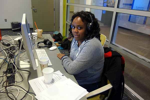 <p>&lt;p&gt;Jaya Montague editing her narration tracks at WHYY. (Courtesy of Philly Youth Radio)&lt;/p&gt;</p>