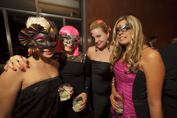 <p><p>Steph Wehry (left), Ashley Smyk, Stacey Dennis, Kate Griffin celebrate at the Pink Tie Ball's After Party (Photo courtesy of Dan Z. Johnson)</p></p>