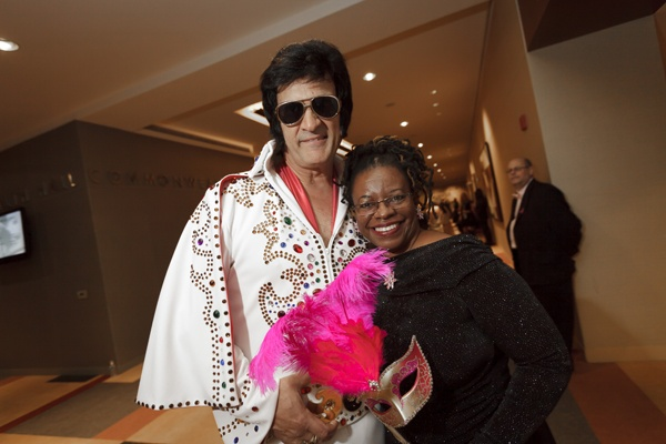 "<p><p>""Elvis"" and Jeanette Stephens-El, breast cancer survivor (Photo courtesy of Dan Z. Johnson)</p></p>"