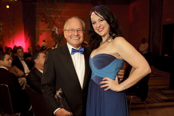 <p><p>Dr. Robert G. Somers, founder of the Einstein Breast Health Program at Einstein Healthcare Network (left) and his former patient Jeannine Donahue, breast cancer survivor. (Photo courtesy of Dan Z. Johnson)</p></p>