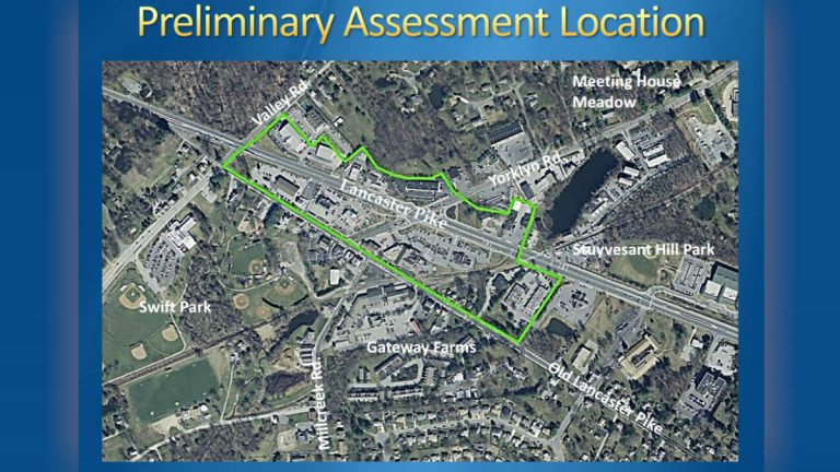This map shows the area impacted by water contamination in nothern Delaware. (DNREC photo)