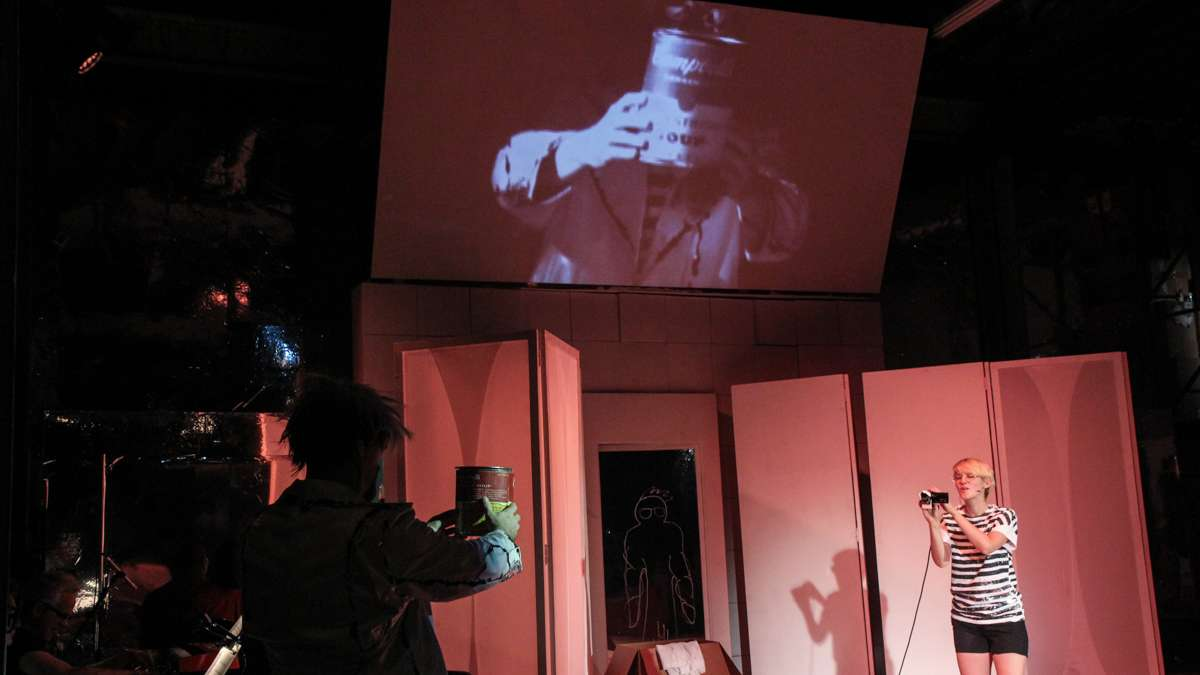 ANDY: A Popera combines video technology and theater. (Kimberly Paynter/WHYY)
