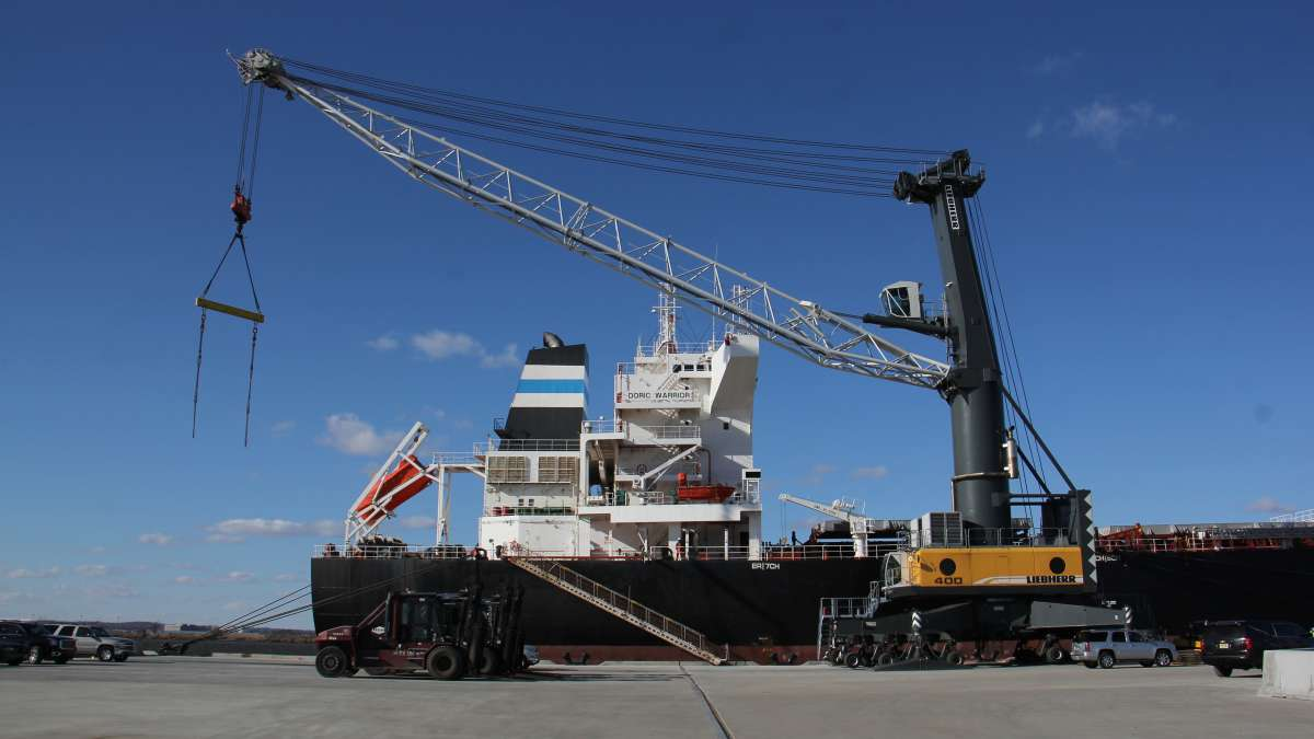 The Paulsboro Marine Terminal is the first port to be built along the Delaware River in more than 50 years. (Emma Lee/WHYY)