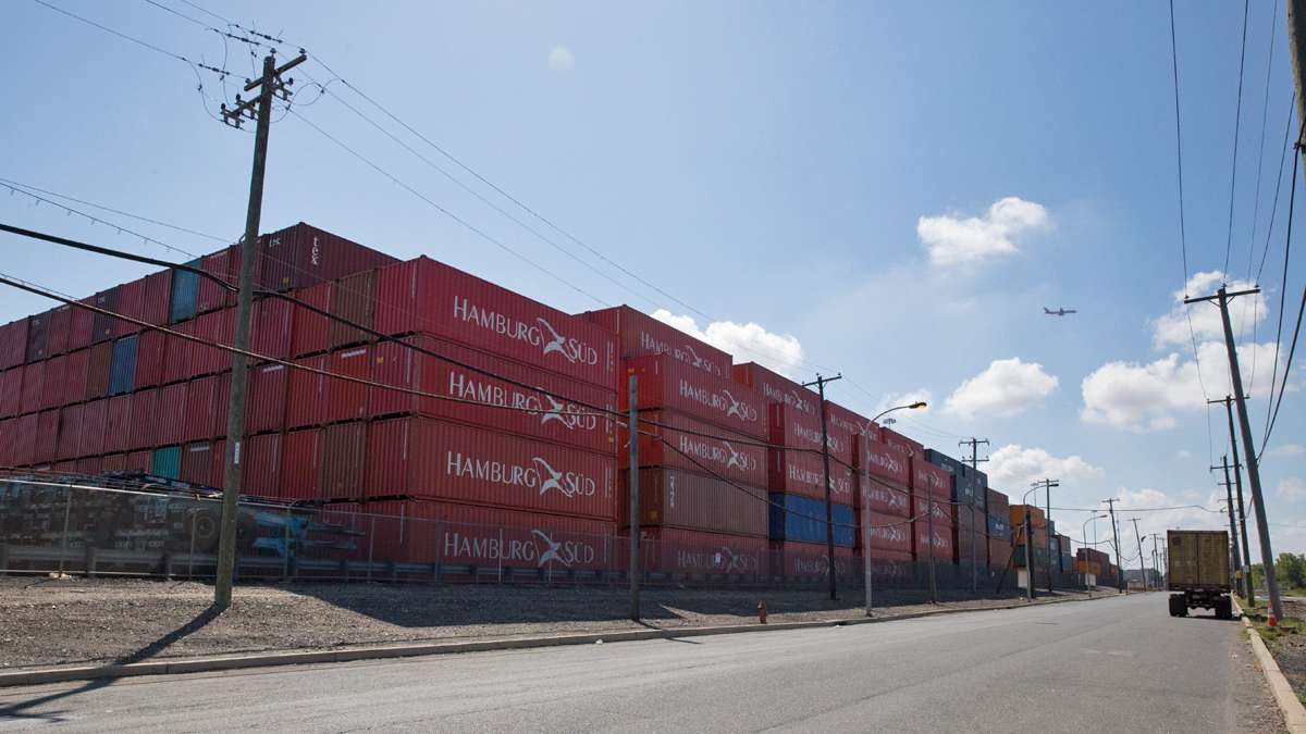 Container cargo has more than doubled at the port of Philadelphia over the last 10 years.  (Lindsay Lazarski/WHYY)