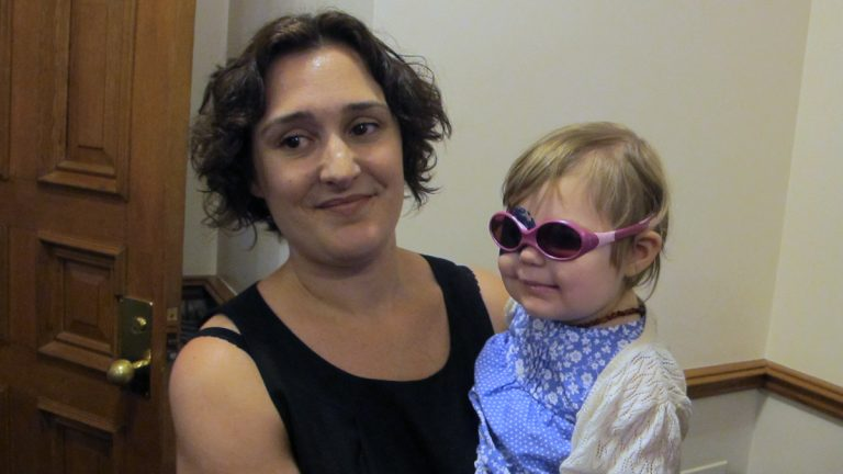 Scotch Plains resident Meghan Wilson is seeking medical marijuana for her 2-year-old daughter Vivia. (Phil Gregory/for NewsWorks)