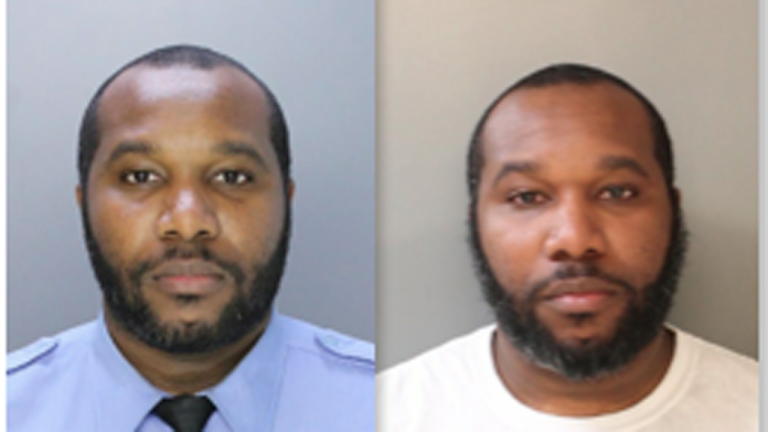 Officer Antonio Mayhew was arrested by the Philadelphia Police Department's Internal Affairs Unit as a result of an investigation conducted for a related domestic incident. (Philadelphia Police)