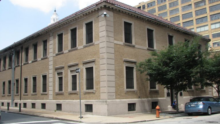 The Philadelphia City Morgue at 13th and Wood Streets (Image via PlanPhilly)