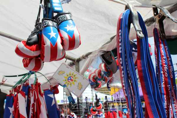 "The Puerto Rican flag was everywhere on North 5th, the Latino ""Bloque de Oro"", the Golden Block. (Elisabeth Perez-Luna)"