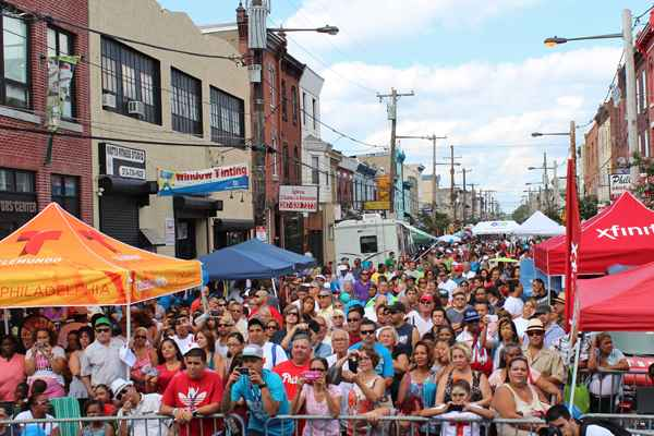 A view from the stage at the Feria de Nuestro Barrio 2013 — Our Neighborhood's Festival 2013.  (Elisabeth Perez-Luna/WHYY)