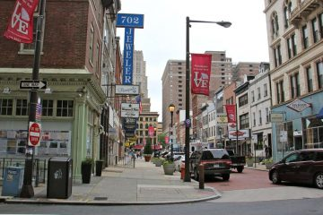 Jewelers Row, described in the tour as ''one of most iconic commercial districts in America,'' is threatened by a plan to construct a 29-story residential tower.