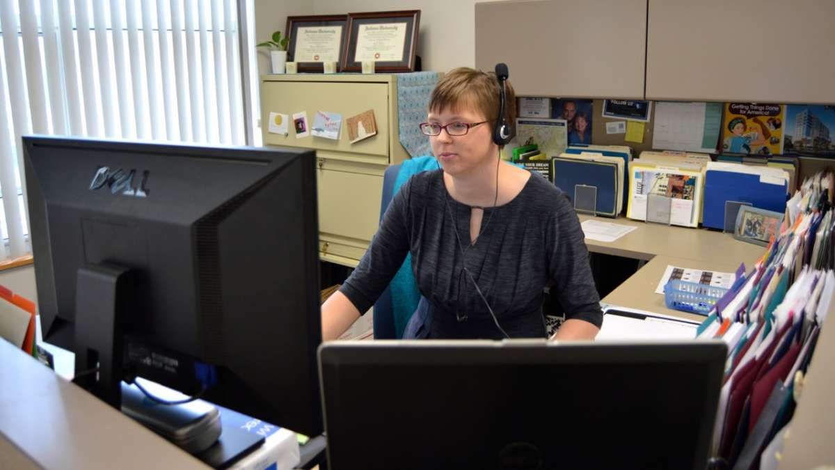 Courtney Hayden said she loves her job and she didn't take it because of the benefits or even the salary. 'I wanted to be a public servant,' she said. (Kate Lao Shaffner/WPSU)