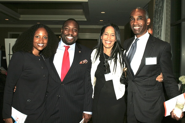 <p><p>Dawn Chavous (left), City Councilmember Kenyatta Johnson, and Geri and Ed Covington (Photo courtesy of Deborah Boardman)</p></p>