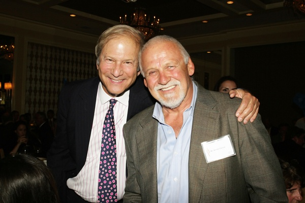 <p><p>Lewis Katz, a managing partner of the company that owns the Philadelphia Inquirer (left), and former Philadelphia Flyer Bernie Parent (Photo courtesy of Deborah Boardman)</p></p>