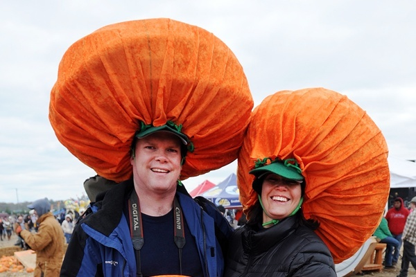 <p><p>Just a few days after Halloween, but it's never too late to dress up like a pumpkin. (Chuck Snyder/for NewsWorks)</p></p>
