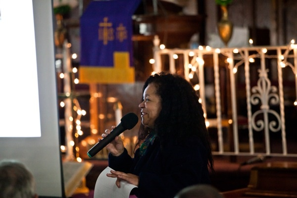 <p>&lt;p&gt;Rylanda Wilson, of the PHA, makes opening remarks at Thursday night's community meeting at Mt. Moriah Baptist Church in Germantown. (Brad Larrison/for NewsWorks)&lt;/p&gt;</p>