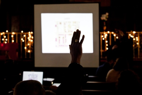 <p>&lt;p&gt;A man raises his hands in the hopes of voicing his concerns for the Potter's Field site. (Brad Larrison/for NewsWorks)&lt;/p&gt;</p>