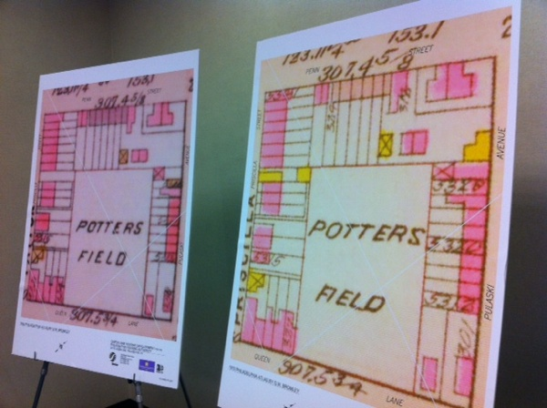 <p>&lt;p&gt;Historic maps show the Potter's Field with houses and buildings fronting on the streets surrounding it, similar to the current PHA plan. (Amy Z. Quinn/for NewsWorks)&lt;/p&gt;</p>