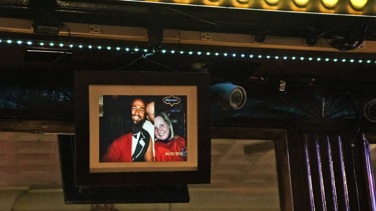 Ray's continues the tradition of photographing their customers, but now the bar uses a digital display. (Kimberly Paynter/WHYY)