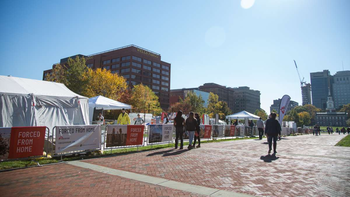 A free, interactive, traveling exhibit presented by Doctors Without Borders about the migrantion crisis worldwide is open on Independence Mall November 5 to13.