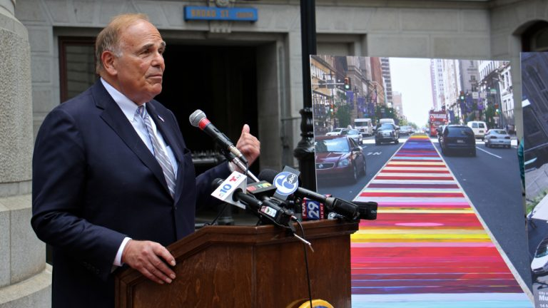 Democratic National Convention Chair Ed Rendell announces plans to beautify Broad Street for the convention