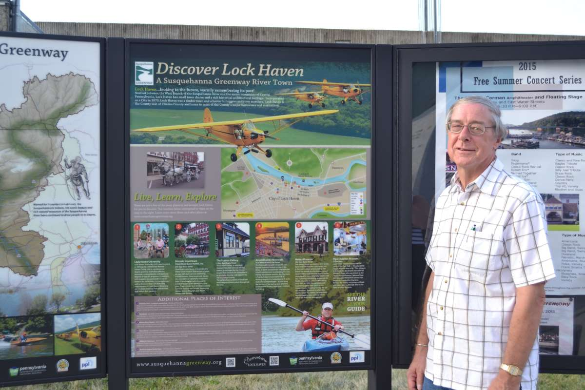 City Manager Rich Marcinkevage says all the river access makes Lock Haven a desirable place to visit, or stay and raise a family. (Eleanor Klibanoff/WPSU)