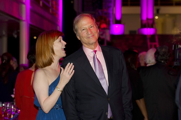 <p><p>Nancy Phillips and Lewis Katz, co-owner of the Philadelphia Inquirer, among the guests enjoy dancing to the Joe Sudler Orchestra after dinner (Photo courtesy of Susan Beard Design)</p></p>