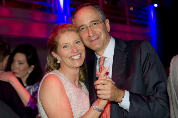 <p><p>Aileen and Brian Roberts, chairman and CEO of Comcast, on the dance floor after dinner (Photo courtesy of Susan Beard Design)</p></p>