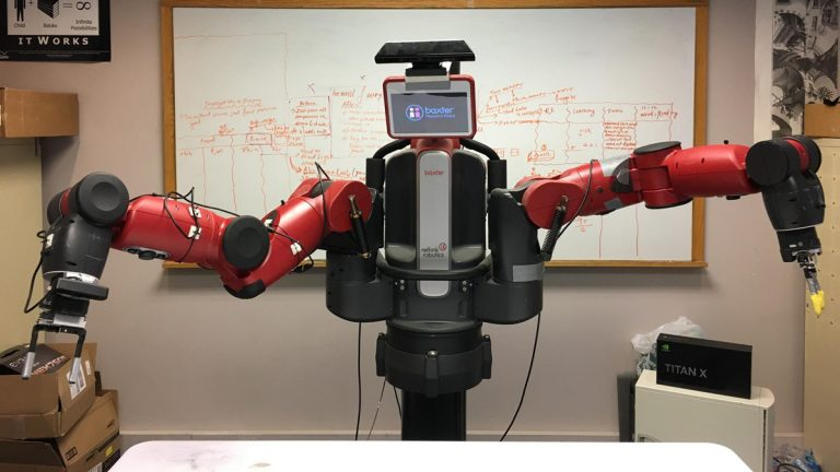 A Baxter robot at Carnegie Mellon University. (Larkin Page-Jacobs/ WESA)