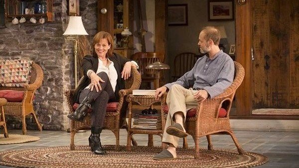 Sigourney Weaver and David Hyde Pierce in a scene from the current Broadway production of