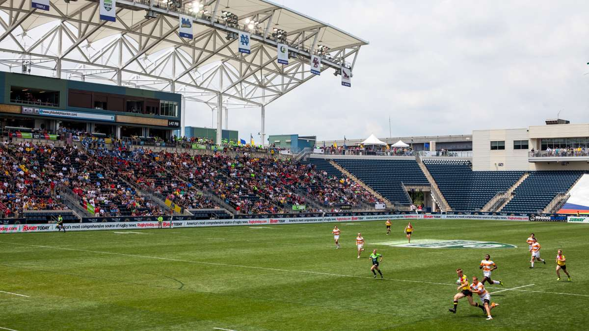 The Talen Energy Stadium was host to the Penn Mutual Collegiate Rugby Championship this weekend.