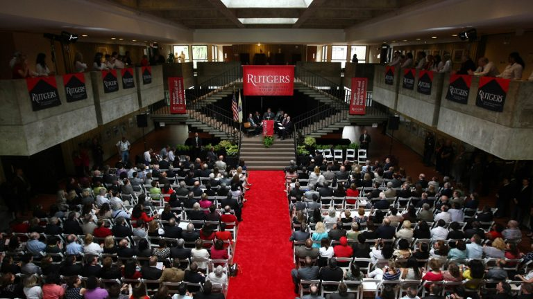 Rutgers transition ceremony at Robert Wood Johnson Medical School in Piscataway (Image courtesy of Tim Larsen/Governor's Office)