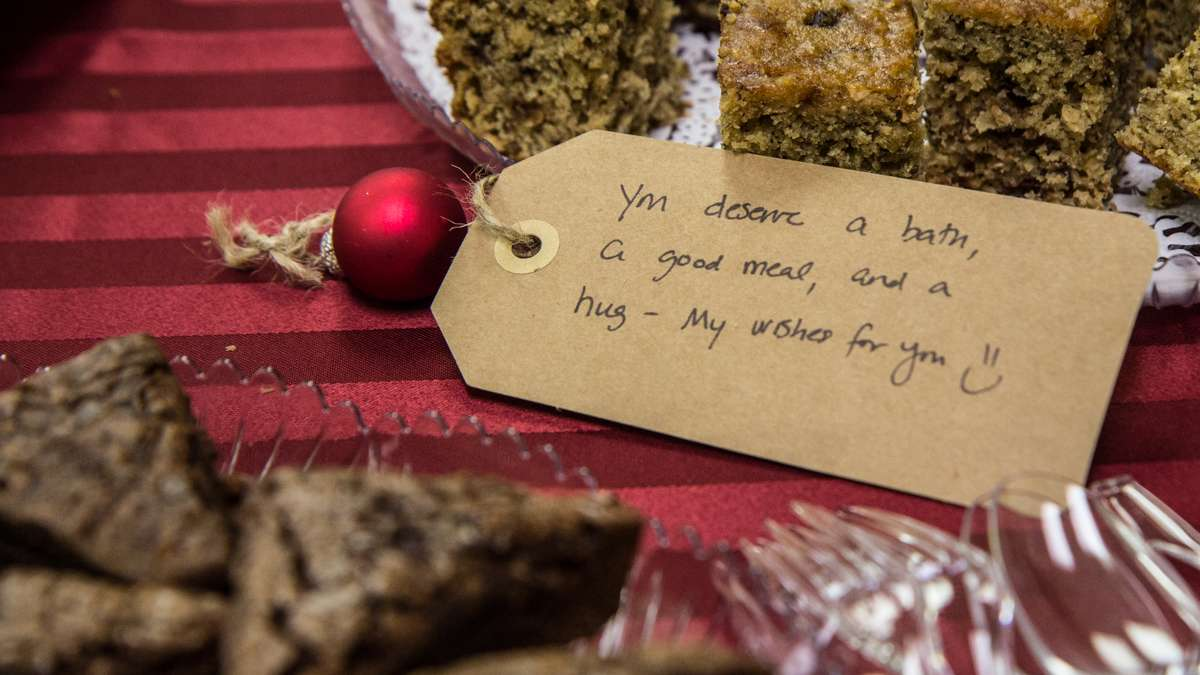 Richard Wright elementary teachers are gifted baked goods from supporters outside the city, and are decorated with supportive Christmas tags.